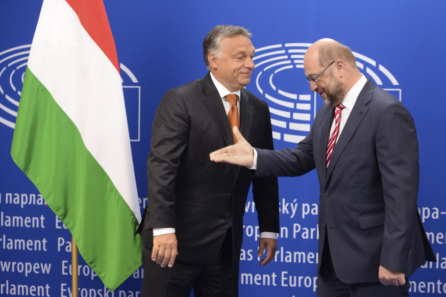 Martin SCHULZ - EP President meets with Viktor ORBAN - Prime Minister of Hunagry